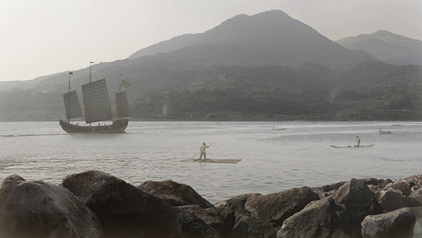 matte painting of Tamsui river at 1800