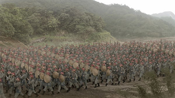 crowd compositing and matte painting