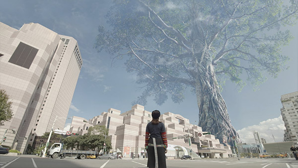 tree replace Taipei 101 mattepainting